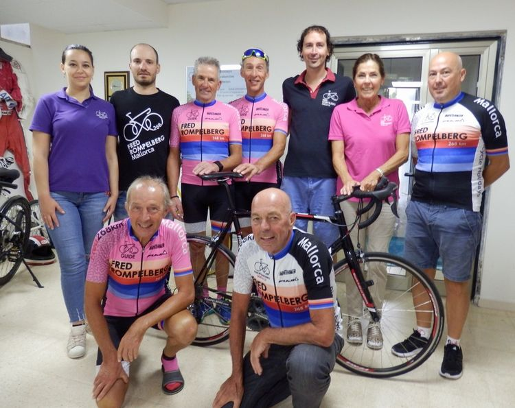 Picture 1: Fred Rompelberg 268 km: Autumn 2018: from September 14 to October 28, 2018. There are already more guests on Mallorca than in autumn 2017. Formidable!